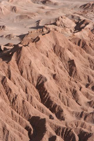 Rocky ridges in the Atacama desert